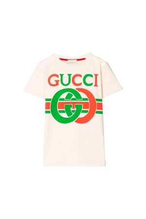 White Gucci kids t-shirt  GUCCI KIDS | 8 | 561651XJBCG9756