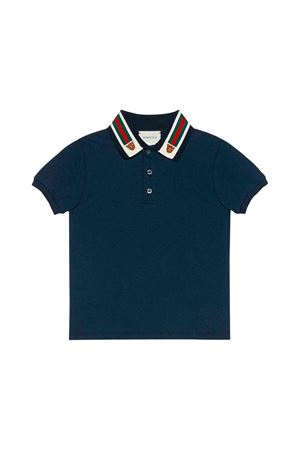 Gucci kids blue tiger polo  GUCCI KIDS | 2 | 564298XJBEP4585