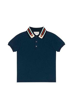 Polo tiger blu bambino Gucci kids GUCCI KIDS | 2 | 564298XJBEP4585