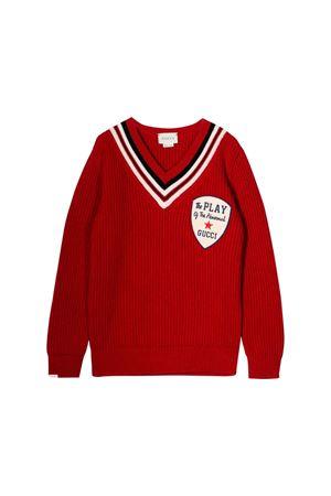 Pullover rosso bambino Gucci kids GUCCI KIDS | 7 | 565834XKAP46285