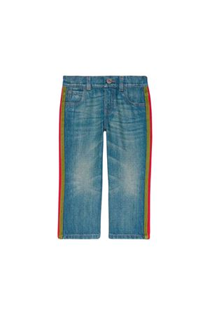 Jeans in denim chiaro Gucci kids GUCCI KIDS | 9 | 566057XDANS4206