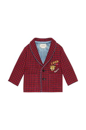 Gucci kids red blue checkered jacket GUCCI KIDS | 3 | 569489XWAEJ6431