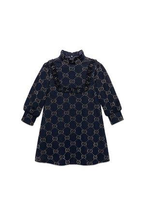 BLUE GUCCI KIDS JACQUARD DRESS  GUCCI KIDS | -675681197 | 571384XJBEI4048