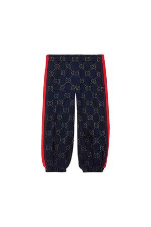 Pantalone sportivo blu Gucci Kids GUCCI KIDS | 9 | 571388XJBEJ4048