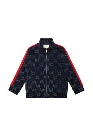 Blue Gucci kids sweatshirt  GUCCI KIDS | -108764232 | 571390XJBEJ4048