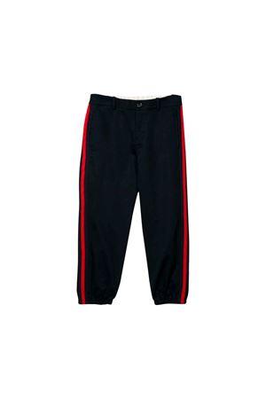 Gucci kids dark blue jogging pants  GUCCI KIDS | 9 | 573995XWAEW4265