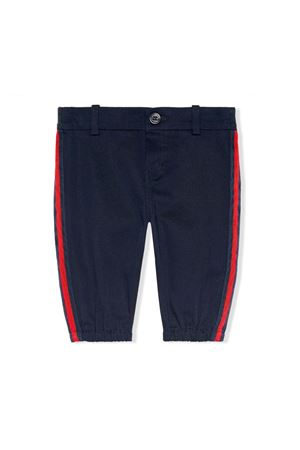 GUCCI KIDS BLUE NEWBORN TROUSERS  GUCCI KIDS | 9 | 573996XWAEW4265