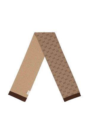 Light brown scarf with logo trama Gucci kids GUCCI KIDS | 77 | 5747224K2089864