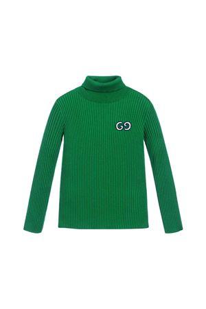 Gucci Kids green high collar sweater GUCCI KIDS   7   577136XKAVK3026