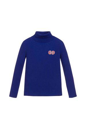Maglione collo alto blu bambino Gucci Kids GUCCI KIDS | 7 | 577136XKAVK4426