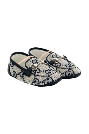 Gucci kids gray newborn loafers  GUCCI KIDS | 921336138 | 5811489SF909372