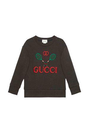 Gucci kids black sweatshirt  GUCCI KIDS | -108764232 | 586138XJBHC1073