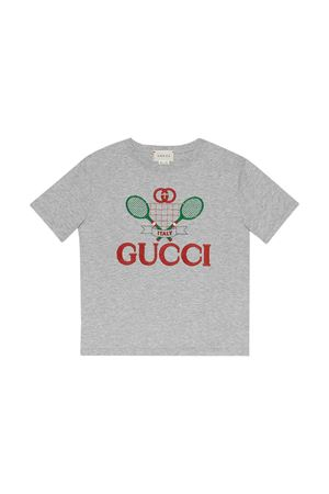 Gray T-shirt Gucci kids  GUCCI KIDS | 8 | 586167XJBK21135