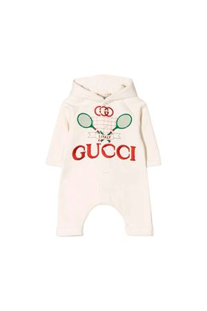 Gucci kids newborn baby white suit GUCCI KIDS | 1491434083 | 586243XJBHC9061