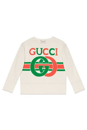 WHITE GUCCI KIDS SWEATSHIRT  GUCCI KIDS | -108764232 | 587044XJBDE9061