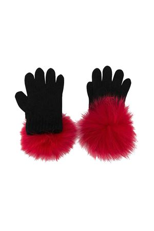 Black Miss Blumarine gloves Miss Blumarine | 34 | MBL2124NEROROSSO