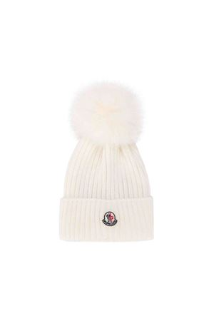 Moncler kids white cap  Moncler Kids | 25189572 | 002560504S01034