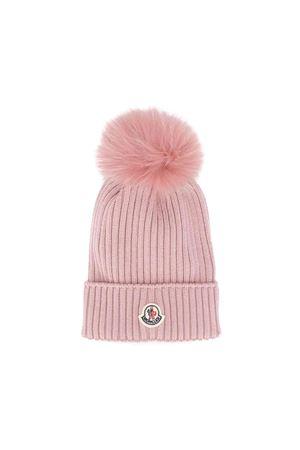 Pink Moncler kids girl cap  Moncler Kids | 25189572 | 002560504S01514