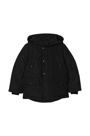 Black lightweight jacket with back white press Salagou Moncler kids Moncler Kids | 13 | 423570554543999