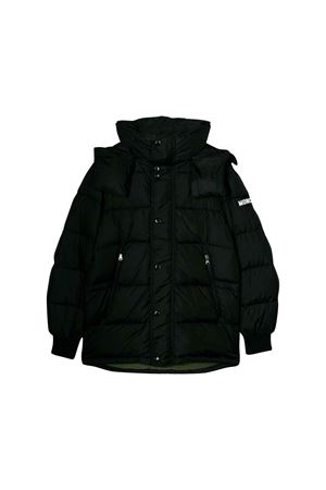 Black Moncler kids teen soubiran long jacket  Moncler Kids | 13 | 423625568352999T