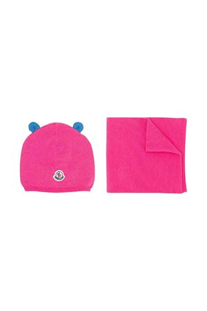 Moncler kids fuchsia scarf and cap set  Moncler Kids | 25189572 | 9980506A9293546