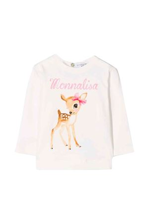 Monnalisa kids white long-sleeved T-shirt  Monnalisa kids | 8 | 314600S142010001