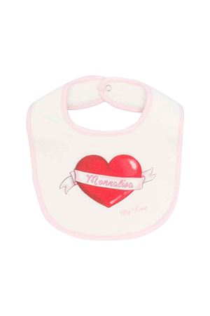 Newborn white and pink bib Monnalisa kids  Monnalisa kids | -546332730 | 354008SW40030143