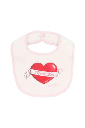 Newborn white and pink bib Monnalisa kids  Monnalisa kids | -546332730 | 354008SW40030143