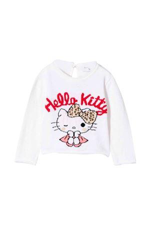 Monnalisa kids newborn white sweatshirt  Monnalisa kids | -1384759495 | 39463740500191