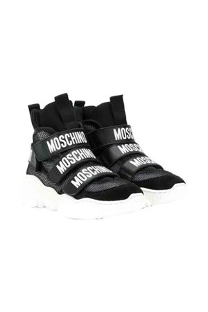 Black sneakers with white logo Moschino kids MOSCHINO KIDS | 12 | 61821NERO
