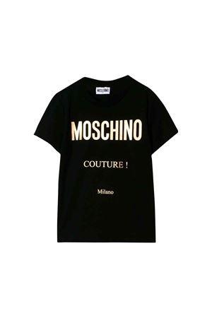 Black Moschino kids t-shirt  MOSCHINO KIDS | 8 | H5M024LBA1260100