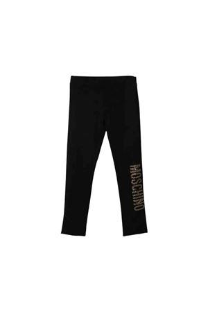 Black Moschino Kids teen leggings  MOSCHINO KIDS   411469946   HAP02SLJA0260100T