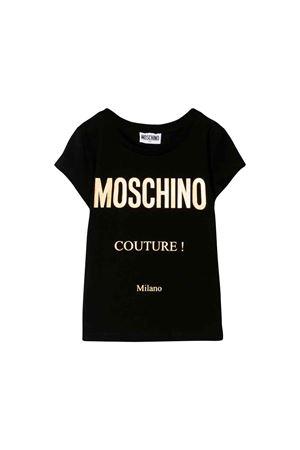 Moschino kids black t-shirt  MOSCHINO KIDS | 8 | HBM02OLBA1260100