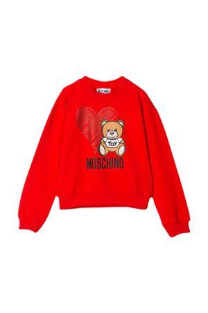 Red Moschino Kids sweatshirt  MOSCHINO KIDS   -108764232   HDF026LDA1650109