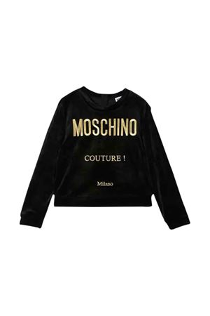 Black sweatshirt with golden press Moschino kids MOSCHINO KIDS | -108764232 | HDF029LGA0560100