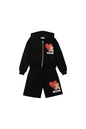 Black teen jumpsuit with press Moschino kids MOSCHINO KIDS | 19 | HDK012LDA1660100T