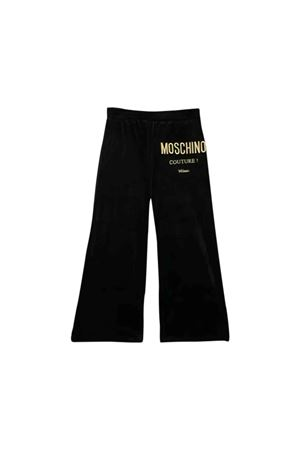 Black Moschino kids velvet trousers MOSCHINO KIDS | 9 | HDP03KLGA0560100