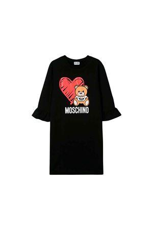 Black Moschino kids dress girl  MOSCHINO KIDS | 11 | HDV081LDA1660100