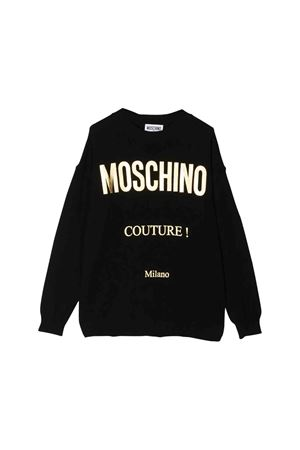 Moschino Kids black sweatshirt  MOSCHINO KIDS | 1201616119 | HDW01CLHE0960100