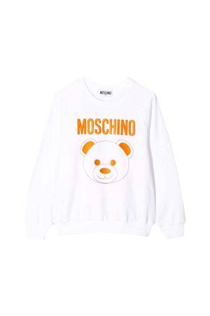 WHITE MOSCHINO KIDS TEEN SWEATER  MOSCHINO KIDS | -108764232 | HMF02DLDA1610101T