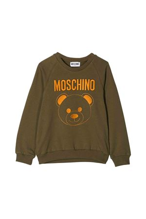 Khaki green Moschino kids sweatshirt 