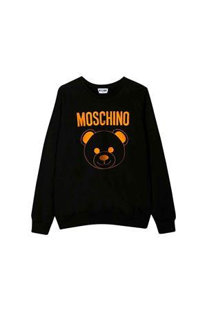 BLACK SWEATSHIRT MOSCHINO KIDS  MOSCHINO KIDS | -108764232 | HMF02DLDA1660100