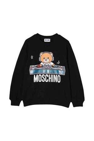 Black Moschino kids sweatshirt  MOSCHINO KIDS | -108764232 | HNF02HLDA1760100