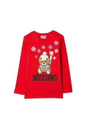 Red Moschino kids teen sweatshirt  MOSCHINO KIDS | 8 | HNM02HLBA1150109T