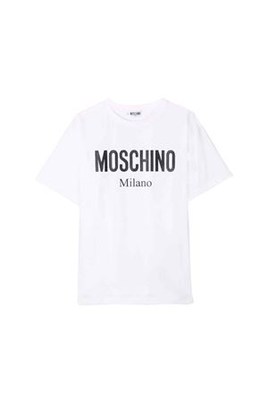 WHITE MOSCHINO KIDS T-SHIRT  MOSCHINO KIDS | 8 | HPM029LBA1210101