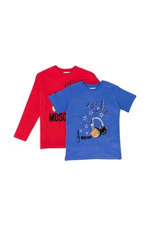 T-shirt bipack Moschino kids bambino MOSCHINO KIDS   8   HUK01TLBA1284181