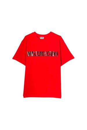 Red Moschino kids teen t-shirt  MOSCHINO KIDS | 8 | HUM02LLBA1250109T