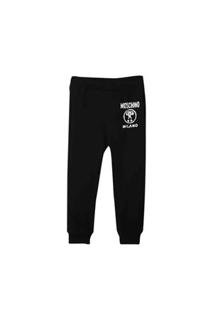 Black Moschino kids pants MOSCHINO KIDS | 9 | HUP033LDA1660100