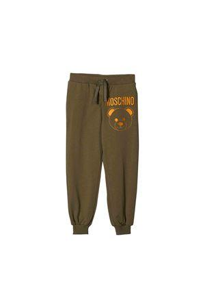 Khaki green Moschino kids trousers MOSCHINO KIDS | 9 | HUP034LDA1630791