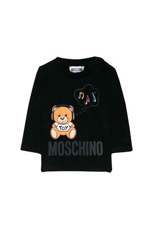 Black cotton printed Teddy Bear sweatshirt Moschino Kids MOSCHINO KIDS | 8 | M7M01VLBA1260100